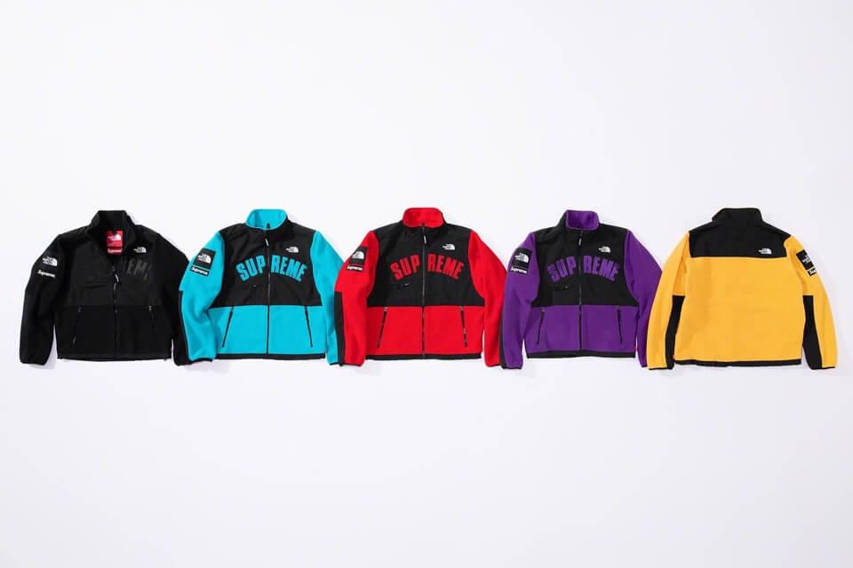 2019 supreme tnf arc logo denalo fleece jacket