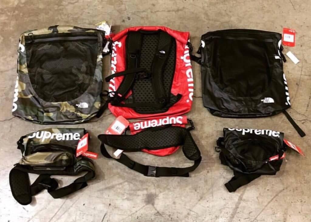 2017 supreme tnf waterproof backpack & waterproof waist bag
