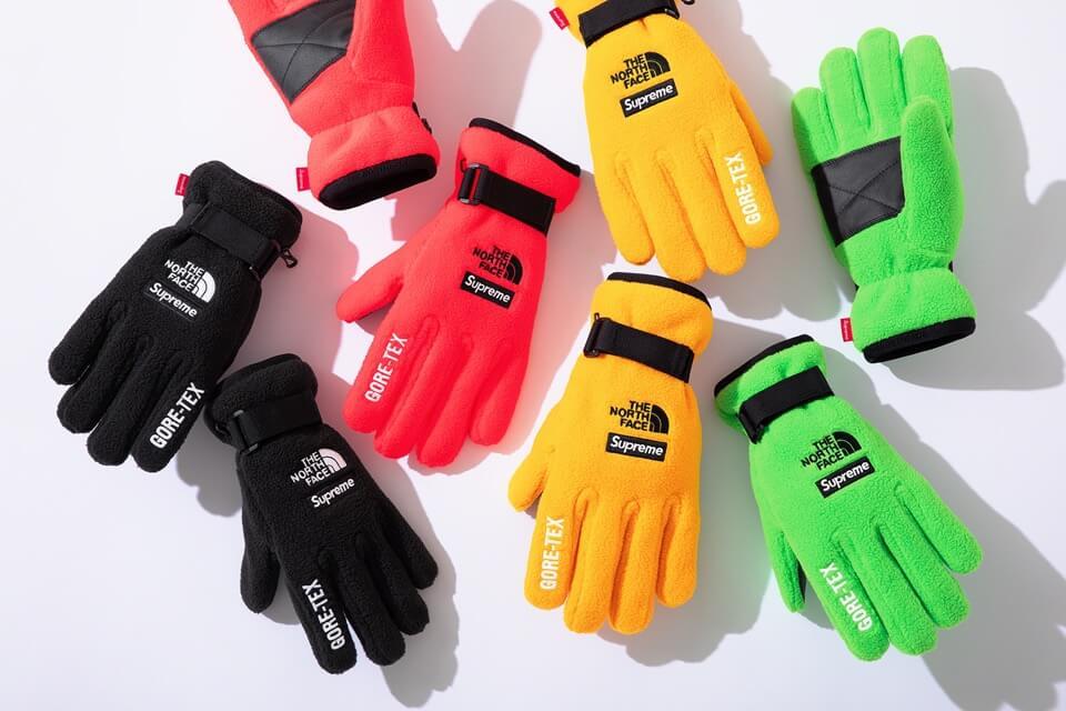 2020 supreme tnf rtg fleece gloves