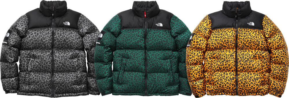 2011 supreme tnf leopard nuptse