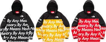 2015 supreme tnf mountain pullover