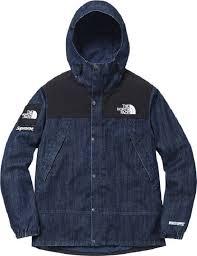 2015 supreme tnf denim dot shot jacket