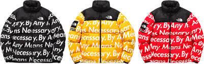 2015 supreme tnf nuptse jacket