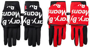 2015 supreme tnf winter runners glove