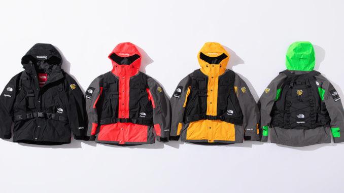 2020 supreme tnf rtg jacket + vest