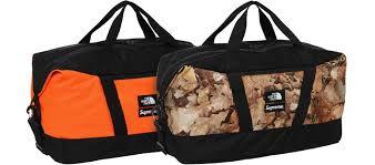 2016 supreme tnf apex duffel bag