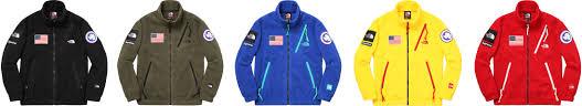 2017 supreme tnf polartec fleece  jacket