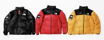 2017 supreme tnf leather nuptse jacket