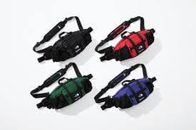 2018 supreme tnf leather mountain waist bag
