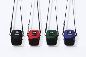 2018 supreme tnf leather shoulder bag