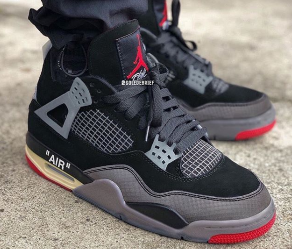 OFF-WHITE NIKE AIR JORDAN 4 BRED