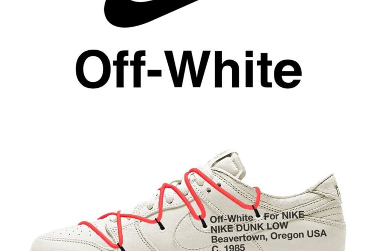 OFF WHITE NIKE DUNK SILVER WHITE