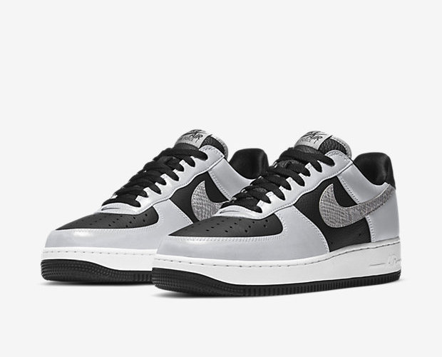 NIKE AIR FORCE1 SILVER SNAKE