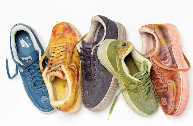 STUSSY NIKE AIR FORCE1 HAND DYED