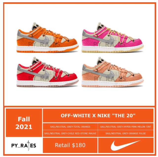 OFF-WHITE NIKE THE 20  DUNK LOW