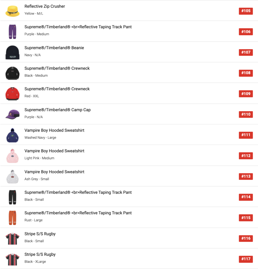 supreme 2021ss week12 jp sell out order