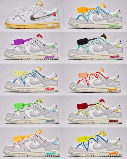 OFF-WHITE NIKE THE 50 DUNK LOW